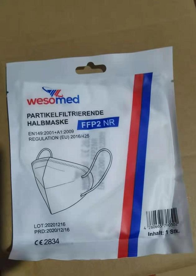 WESOMED FFP2 Verpackung Vorderseite-1